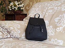 Женский рюкзак городской, чёрный (с маленьким дефектом)
