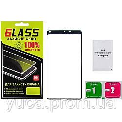 Защитное стекло для XIAOMI Mi Mix 2 (0.3 мм, 2.5D, Full Screen, чёрное)