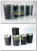 Набор стаканов из нержавеющей стали 400мл (4 шт./наб.) в чехле Dynasty DYN-16-1