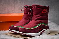 Зимние ботинки  на мехуNike Apparel, бордовые (30632) размеры в наличии ► [  36 (последняя пара)  ](реплика)