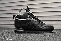 Мужские зимние кроссовки на меху Reebok Classic Black Gray