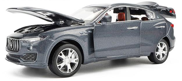 Коллекционная машинка Maserati Levante металлическая серая модель в масштабе 1:32