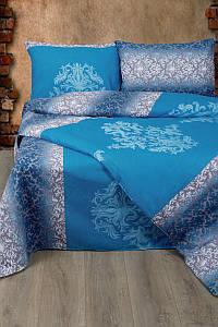 Постельное белье Lotus Ranforce Chris синий двуспального размера
