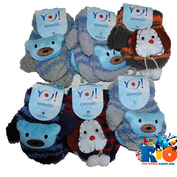 Варежки вязанные , для мальчиков размер 10 ( 1-2 года) (12 ед. в упаковке)