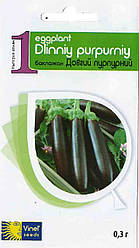 Семена баклажана Длинный пурпурный 0,3 г, Империя семян