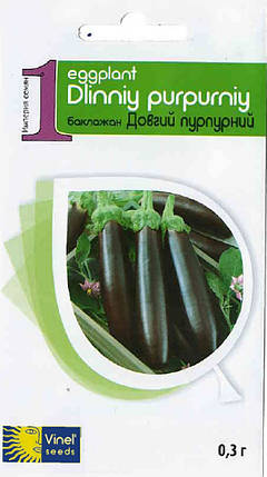 Семена баклажана Длинный пурпурный 0,3 г, Империя семян, фото 2