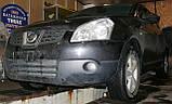 Декоративно-защитная сетка радиатора Nissan Qashqai 2006- бампер, фото 5