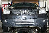 Декоративно-защитная сетка радиатора Nissan Qashqai 2006- бампер