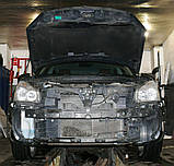 Декоративно-защитная сетка радиатора Nissan Qashqai 2006- бампер, фото 2