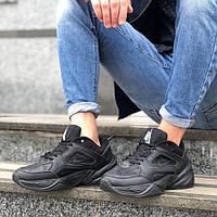 "Кроссовки Nike M2K Tekno ""Triple Black"" (Черные) (реплика А+++ )"