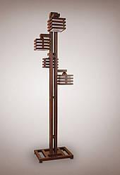 Торшер напольный деревянный 4х ламповый 14230