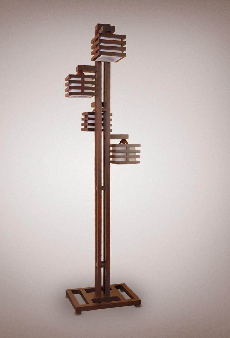 Торшер напольный деревянный 4х ламповый - DECOR-LIGHT — декор и интерьер для Вашего дома в Бердянске