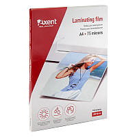 "Плівка для ламінування 75 мкм, A4 ""Axent"" 2010-A (216x303мм), (за 100 шт.) 4250266240191"