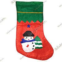 """Новогодний, Рождественский носок для подарков """"Снеговик"""", фото 1"""