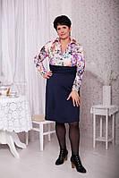 Платье женское больших размеров батал 1762 С $