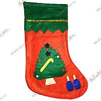 """Новорічний, Різдвяний мішок для подарунків """"Ялинка"""", фото 1"""