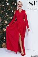 Королевское красное платье в пол
