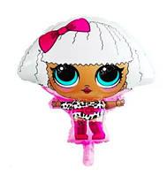 Шар фигура пленка Кукла Лол с бантом  / LOL (60см)