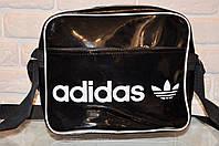 Спортивная,повседневная сумка Adidas, модель планшет, лак.