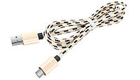 Кабель micro USB ткань, плетенный