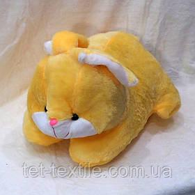 Плед - мягкая игрушка 3 в 1 Зайчик (желтый)