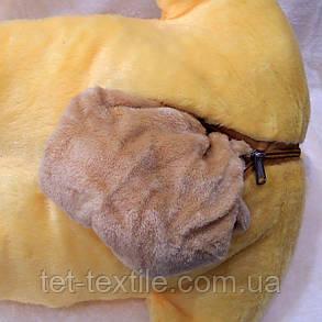 Плед - мягкая игрушка 3 в 1 Зайчик (желтый), фото 2