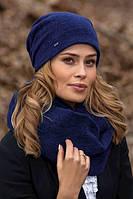 Красивый женский комплект шапка и хомут в 5ти цветах LARUKA, фото 1