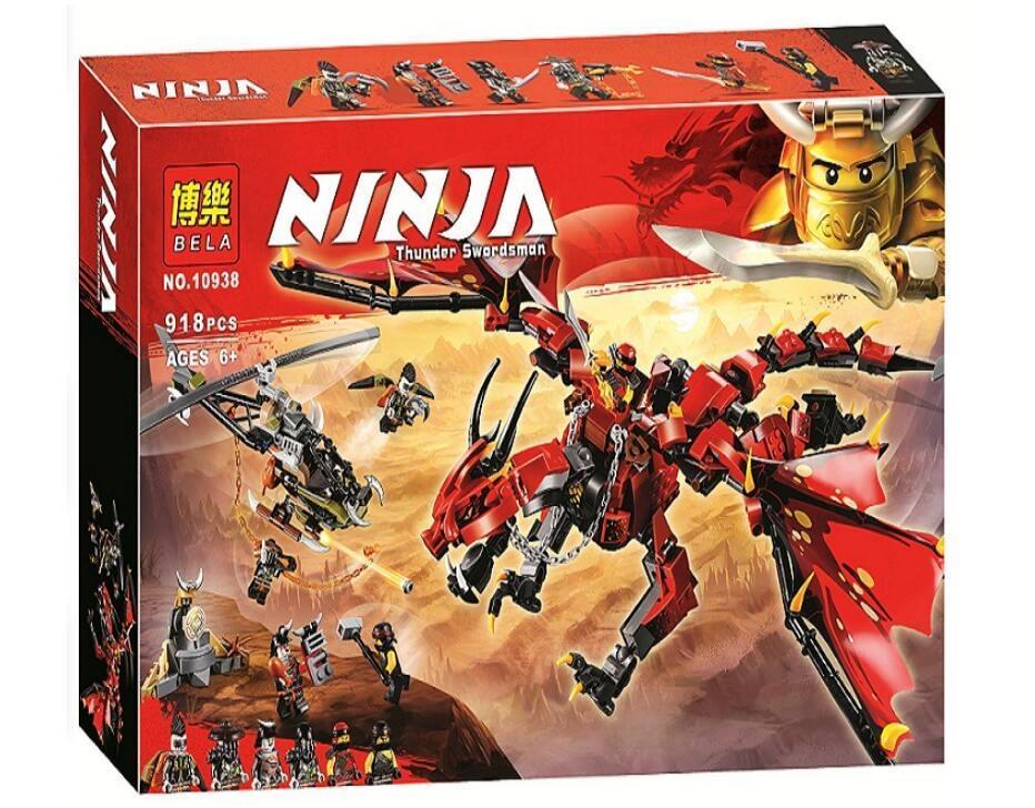 Конструктор Bela 10938 Ninja ниньзя Ninja go ниньзяго Первый страж 918 деталей