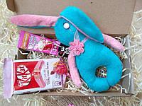 Подарочный набор зайчик плюшевый шоколад KitKat (подарунок, ручна робота, подарунковий набір, іграшки, зайки)