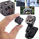 Металлическая мини камера регистратор KERUI SQ8 1080P с аккумулятором., фото 7