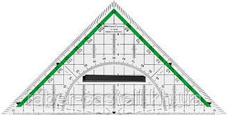 Многофункциональный треугольник со съемным держателем 20 см, Faber-Castell, 177090