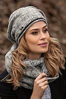 Красивый женский комплект шапка и хомут в 3х цветах LUKARA, фото 1