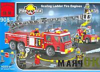 Конструктор BRICK 908 Пожарная тревога,  607 деталей