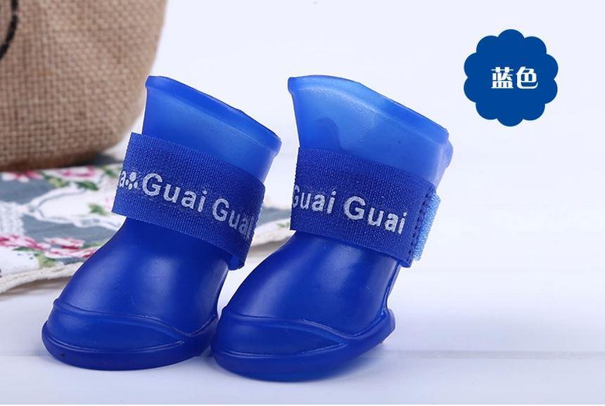 Гумові чобітки розмір S сині  для собак