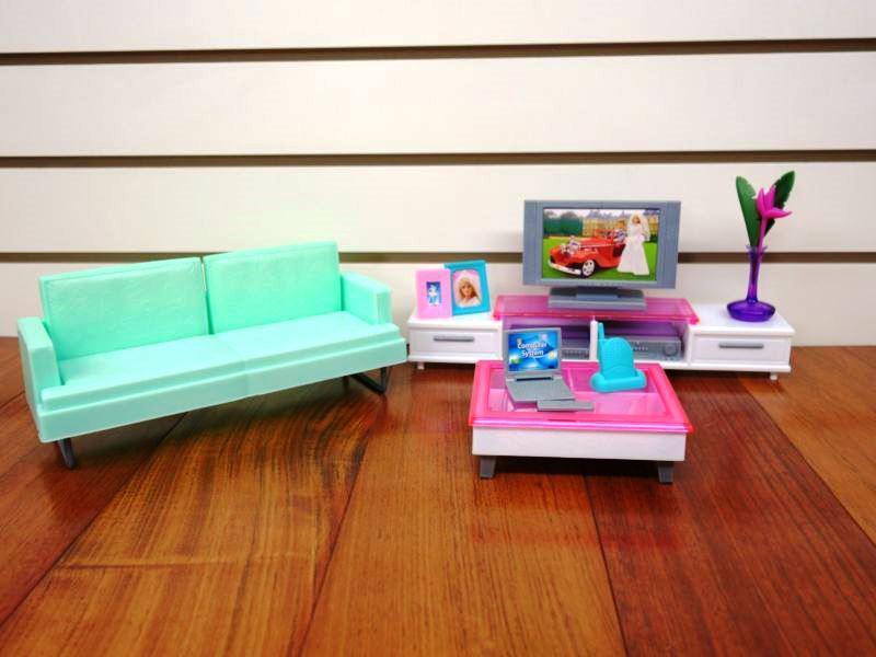 Кукольная мебель Gloria Глория 2804 Стильная гостинная Леди Барби
