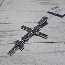 Серебряный крест с объемным распятием, 10 грамм, фото 3