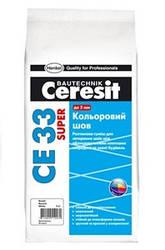 Кольоровий шов Церезіт (Ceresit) СЕ 33 Plus 100 білий, 2 кг