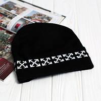 Стильная шапка Off White логотип вышивка