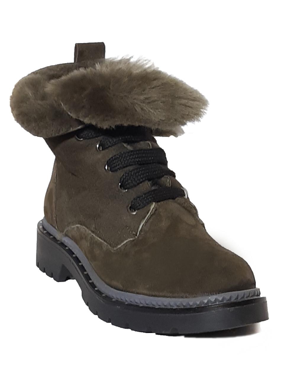 efc7b4271149 Зимние женские кожаные ботинки