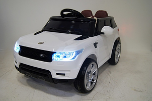 Детский электромобиль Джип M 3402 EBLR-1, Land Rover, колеса EVA, кожаное сиденье, белый