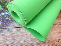 Фоамиран для ростовых цветов, 2 мм, 50х50 см, цвет салатовый