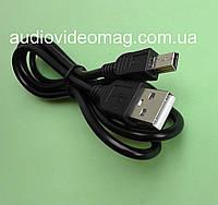 Кабель USB A на удлиненный (8мм) штекер mini USB, длина 1 метр, фото 1