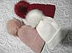 Женская зимняя шапка (5цветов), фото 3