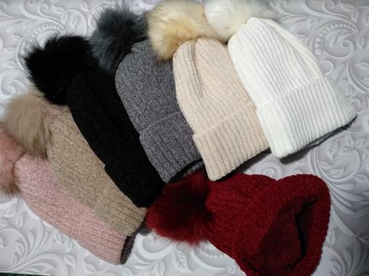 Женская зимняя шапка (5цветов)