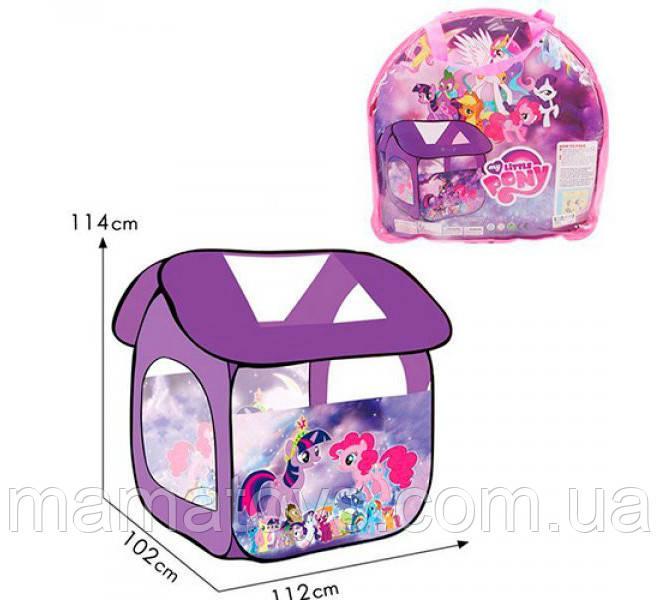 Детская игровая Палатка 8009PN (М 3780) My Little Pony Пони, домик, 112*102*114 см , окно сетка, застежка
