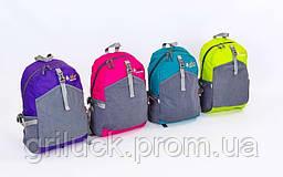 Рюкзак спортивный ZEL (нейлон, р-р 42х25х13см, цвета в ассортименте)