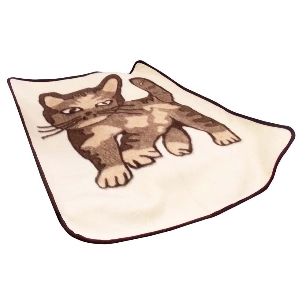 Плед детский из овчины односторонний «Котик» 120*100 /Elun