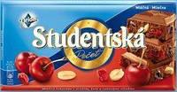 Шоколад молочный с вишней Studentska Pecet