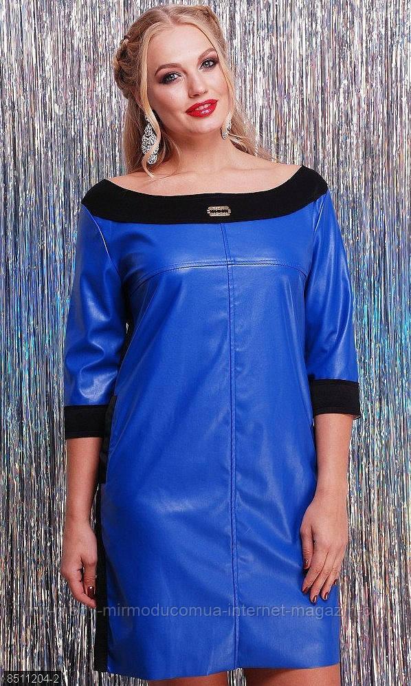 Платье 8511204-2 электрик МШ р с 48-50.52-54