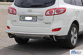 Задня дуга AK002 (нерж.) - Hyundai Santa Fe 2 2006-2012 рр ..